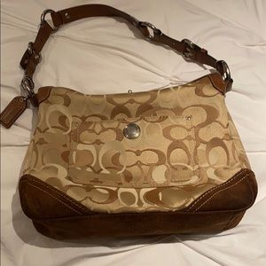 Authentic Coach fabric and suede purse